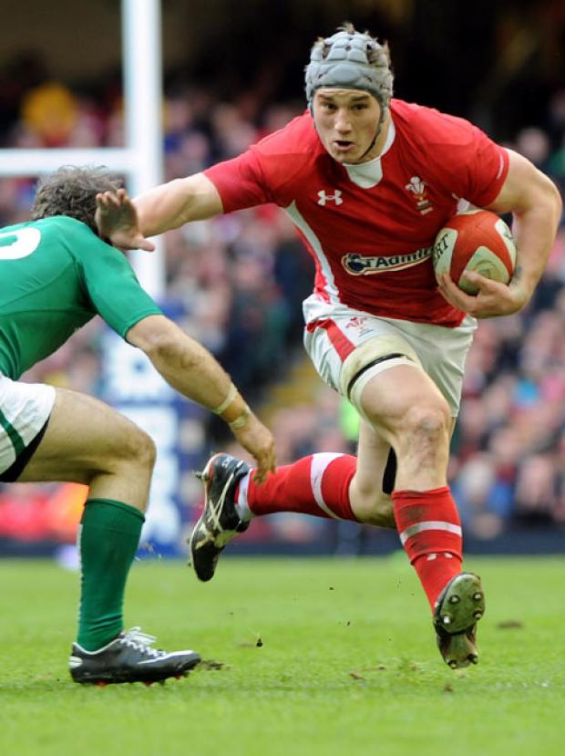 STRENGTH: Wales centre Jonathan Davies' defensive skills will be key against Scotland