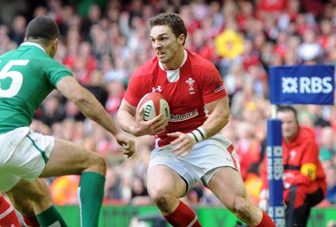 POWER: Wales' strike runners like George North should prove too hot to handle at Murrayfield today
