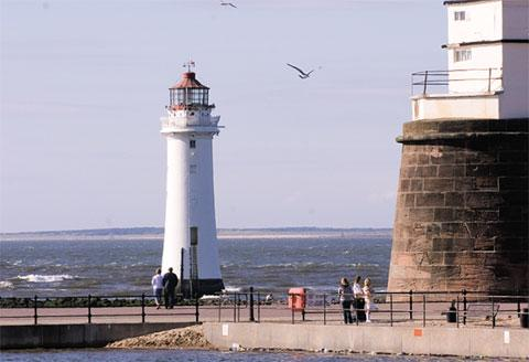 Perch Rock lighthouse at New Brighton