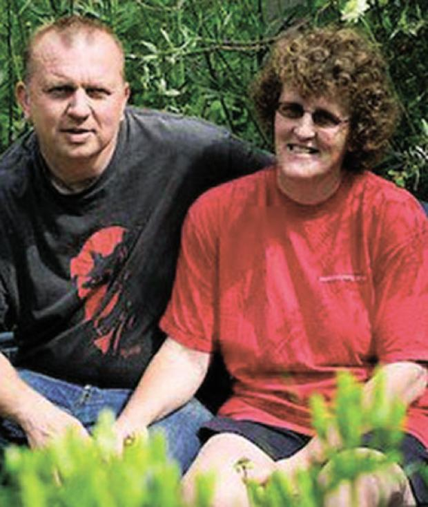 DIED: David Rolfe with wife Elaine in their garden