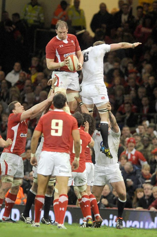 HIGH STANDARDS: Alun Wyn Jones