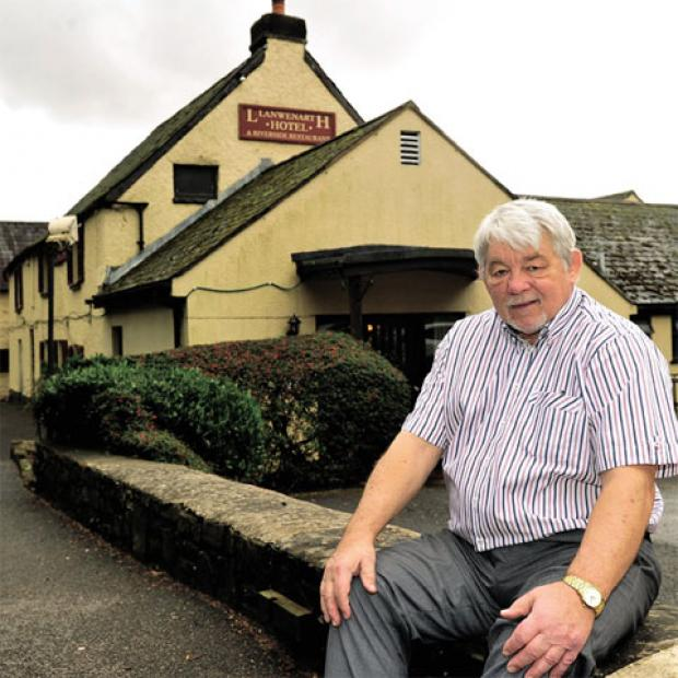 SELLING UP: Richard Wallace is selling the Llanwenarth Hotel, after ten years