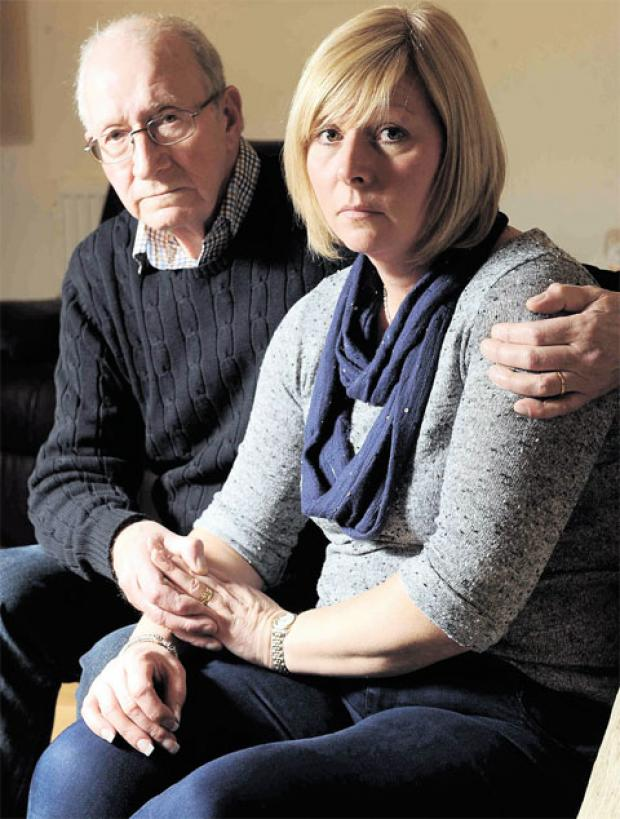 DEVASTATED: Keith Norman and his daughter Sue Kent
