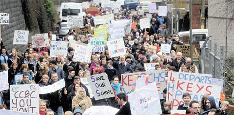 MARCH: Campaigners wanting to ensure the reopening of Cwmcarn School are to launch a bid to raise £1million with a Buy a Brick bid