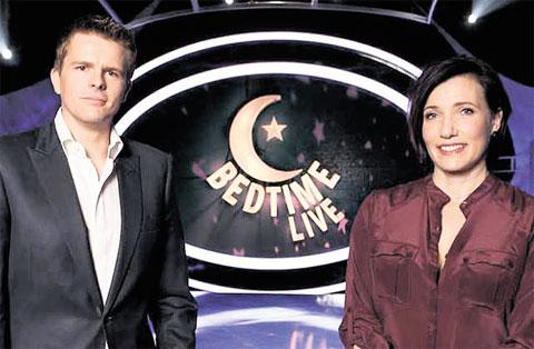 MISSING ITS TARGET AUDIENCE: Jake Humphrey and Tanya Byron host Channel 4's Bedtime Live