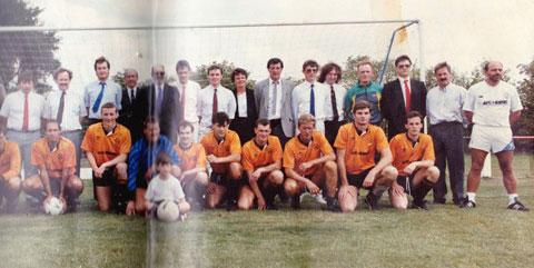 REBORN:The first ever game of the new Newport County AFC at Moreton in 1989