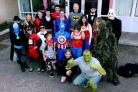 Pupils and staff in fancy dress for Ty Hafan