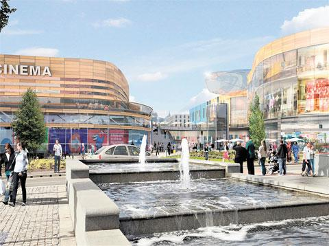 DEVELOPMENT: An artist's impression of the proposed Friar's Walk development in Newport