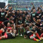 CHAMPAGNE MOMENT: Toulon celebrate their Heineken Cup triumph