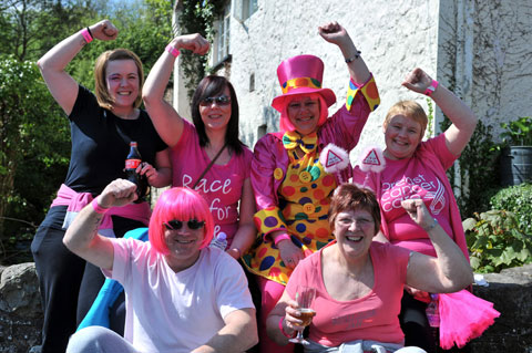 Walkers get in the pink for a Gwent Breast Can