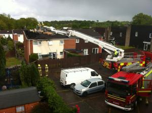Families evacuated as Cwmbran blaze causes havoc