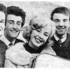 The Hunters pictured in the 1960s with Kathy Kirby
