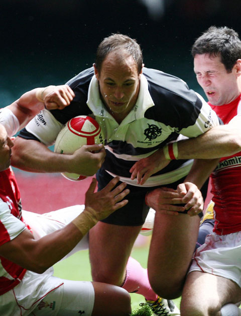 CRUCIAL GAME: Sergio Parisse and his Barbarians side need to fire against the Lions on Saturday