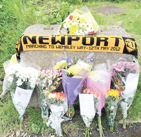 Tributes left to Newport dad found dead
