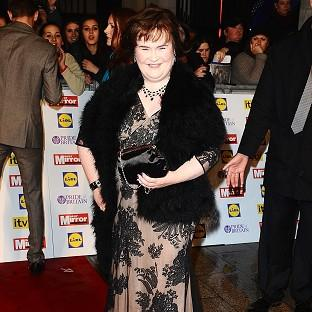 Susan Boyle is keeping her feet firmly on the ground
