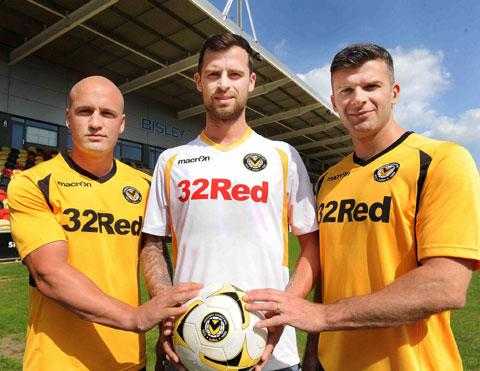 NEW LOOK: David Pipe, Byron Anthony and Tony James at last year's kit launch