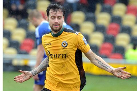 RETURN: Newport County defender Byron Anthony is back from a broken leg