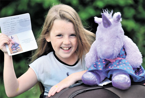 Cwmbran girl's passport for toy unicorn gets her through Turkish customs