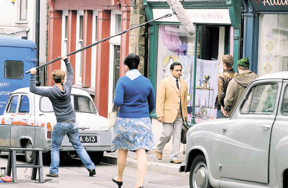 SURGERY REOPENS: Sanjeev Bhaskar films The Indian Doctor in Broad Street, Blaenavon