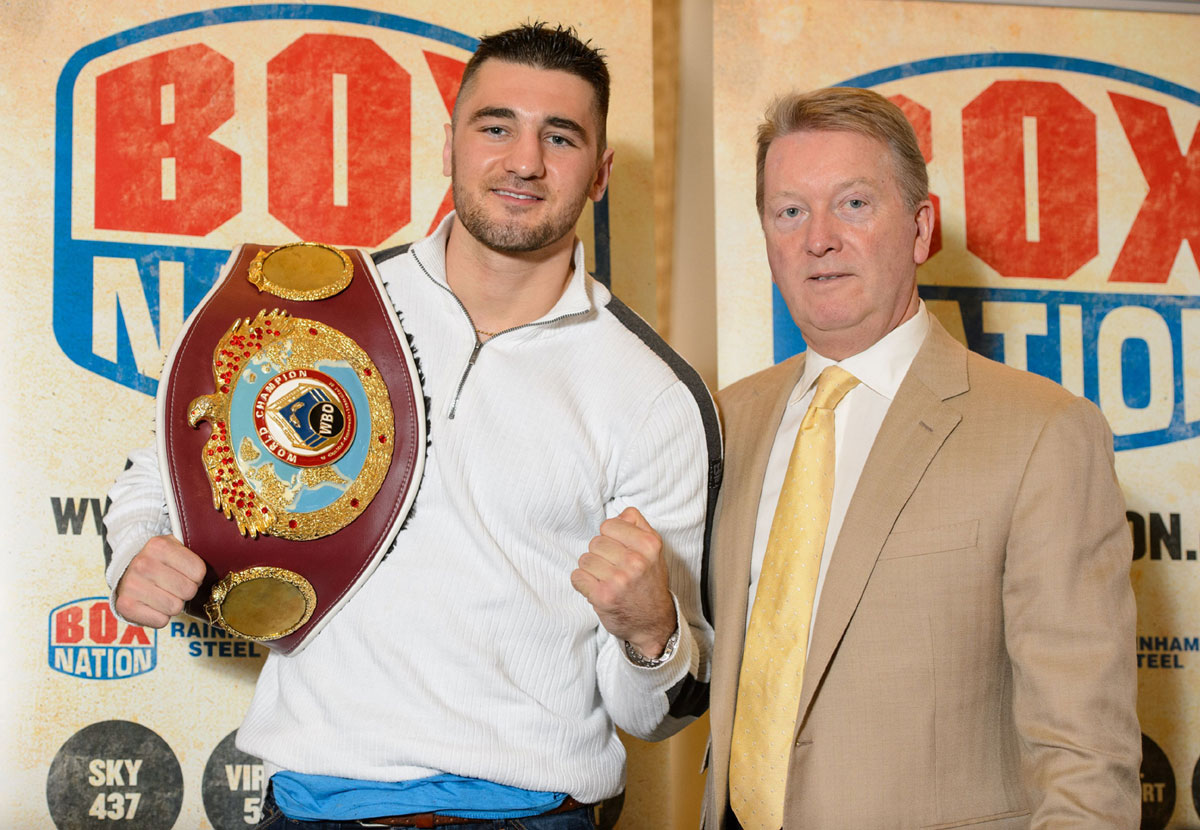 FRUSTRATED: Nathan Cleverly, left, and promoter Frank Warren