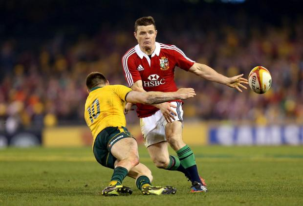 LIONS HANGOVER: Brian O'Driscoll in action Down Under last summer