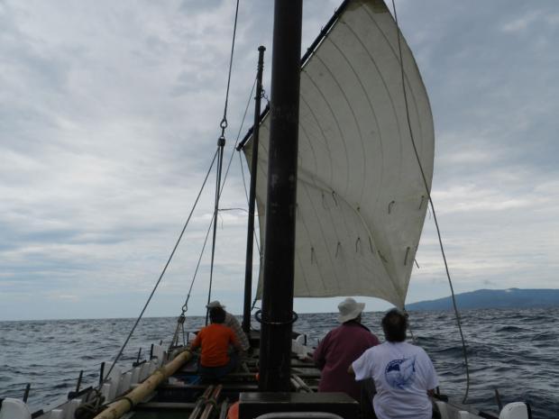 The Brokoa in full sail