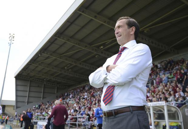 FRUSTRATED: Newport County AFC manager Justin Edinburgh