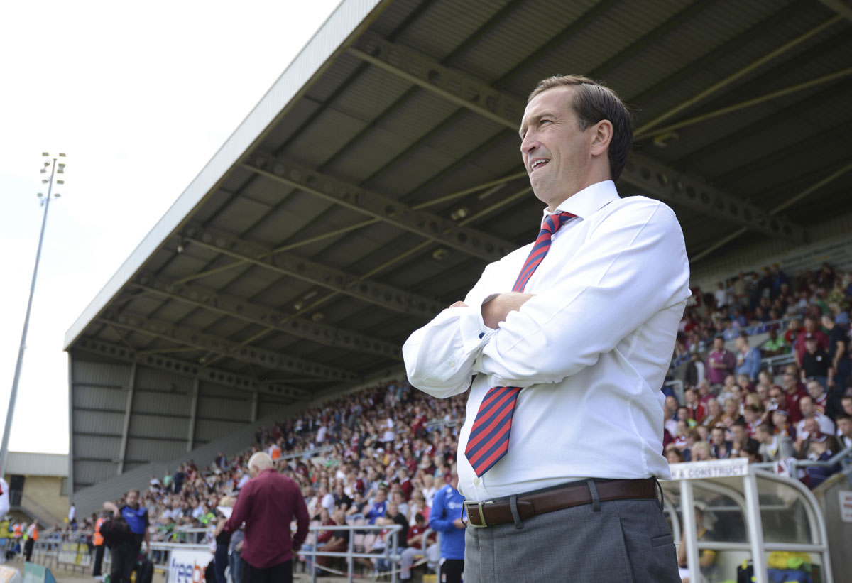 DISAPPOINTED: Newport County manager Justin Edinburgh
