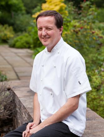 Chris Harrod, the new chef owner at The Crown at Whitebrook, near Monmouthshire