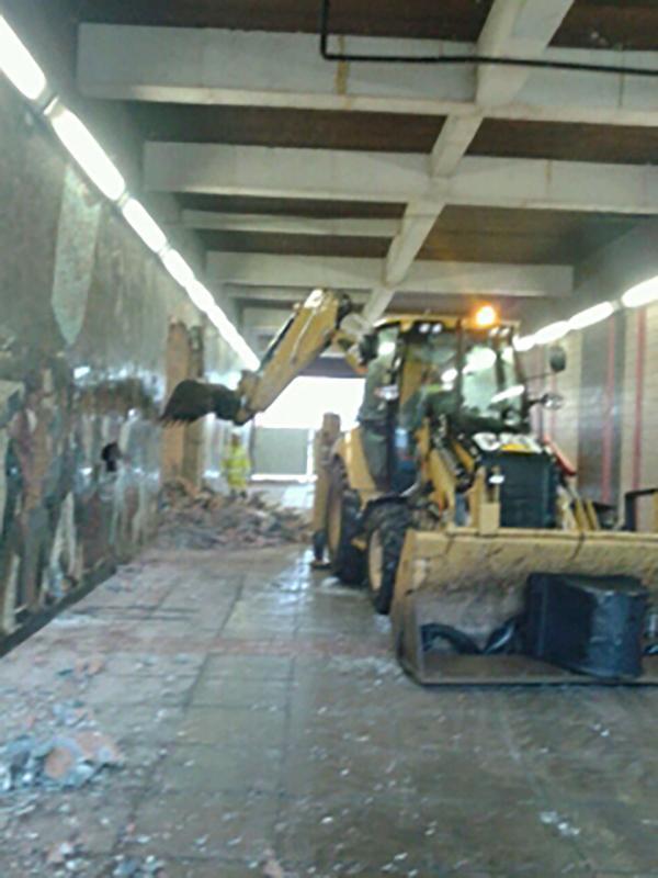 Demonstration as newport chartist mural demolished from for Chartist mural newport