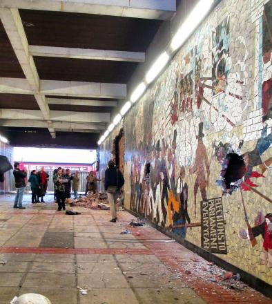 TAKEN DOWN: The Chartist mural was demolished in October last year