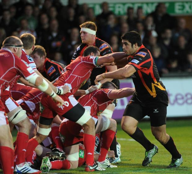 South Wales Argus: Dragons prop Francisco Chaparro banned for 10 weeks