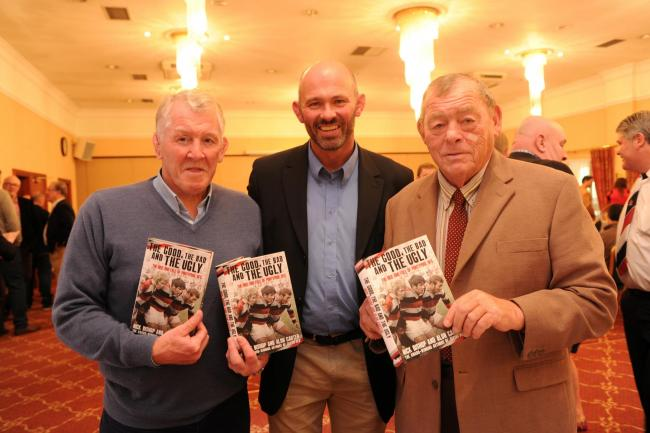 Graham Price Alun Carter and Charlie Faulkner at the book launch of The  Good, The