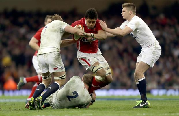 READY FOR BATTLE: Dragons star Taulupe Faletau