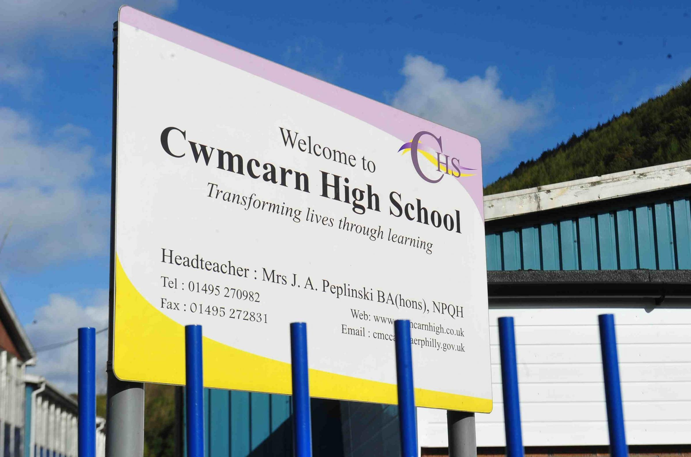 Keys to part of Cwmcarn school site handed back to staff
