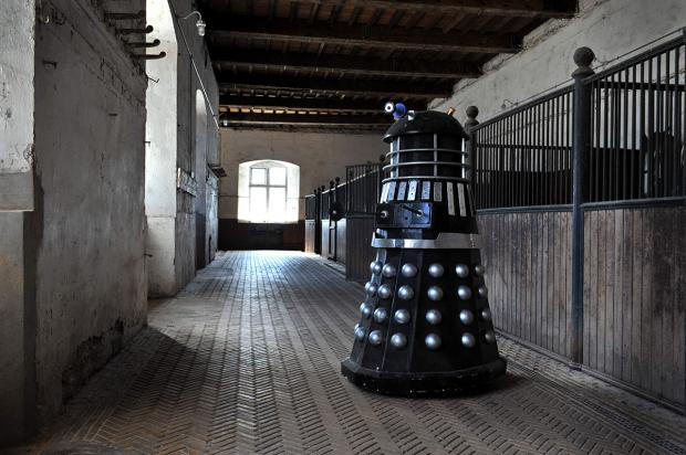South Wales Argus: DALEK: During filming of Doctor Who at Tredegar House in Newport