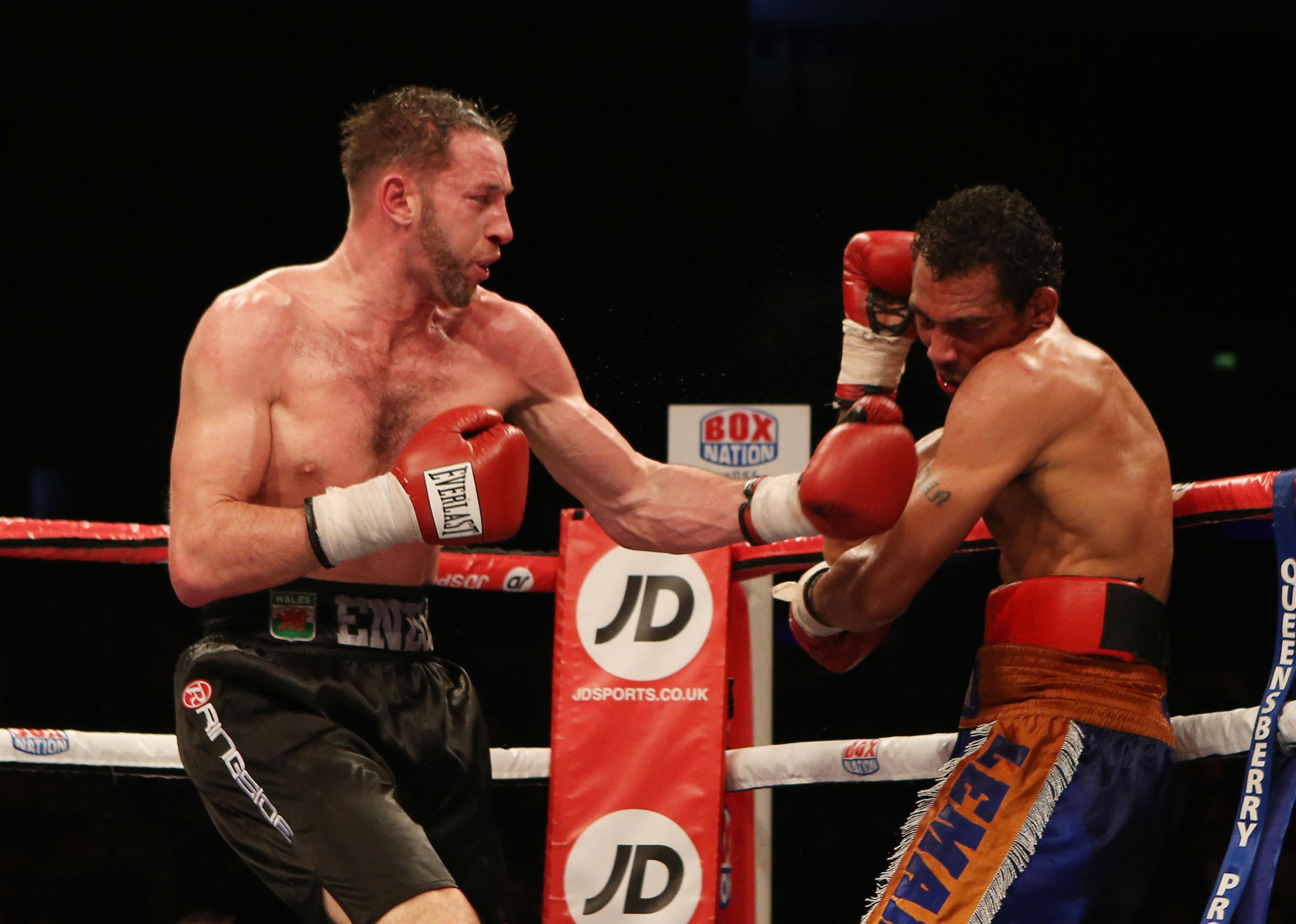 BIG CHANCE: Enzo Maccarinelli, left, has a shot at another world title on Saturday