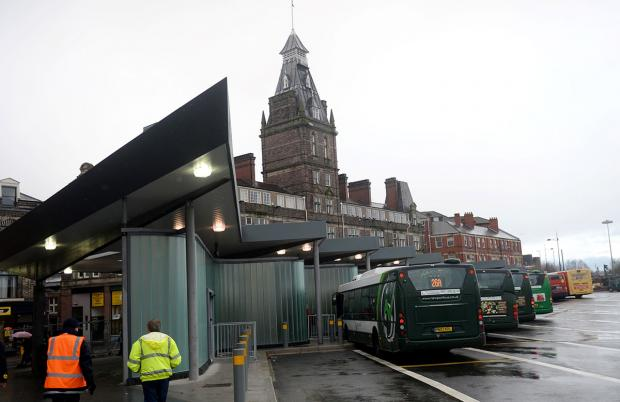 SMOKING ALLOWED: Newport's new bus station