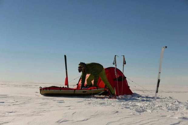 South Wales Argus: Gwent Antarctic adventurer nears record breaking finish