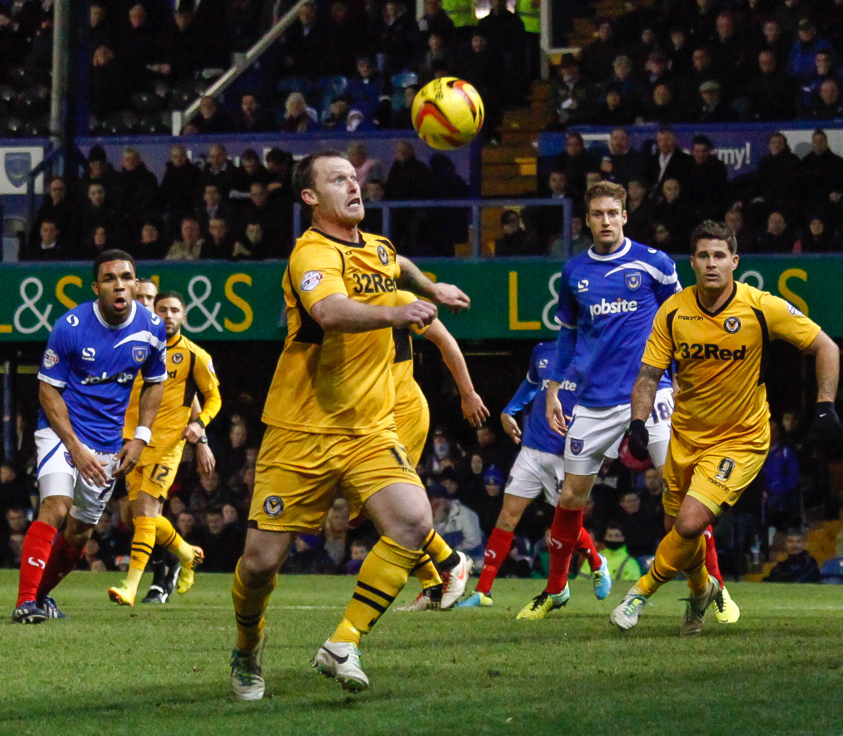 DEADLY: Here I am about to score my second goal at Portsmouth last month