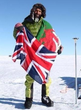 RECORD-BREAKING: Newport's record-breaking Richard Parks has reached the South Pole