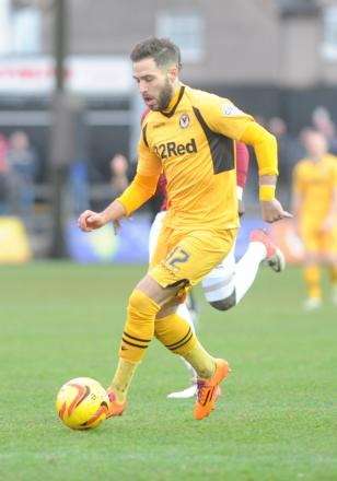 HAPPY: Newport County star Robbie Willmott