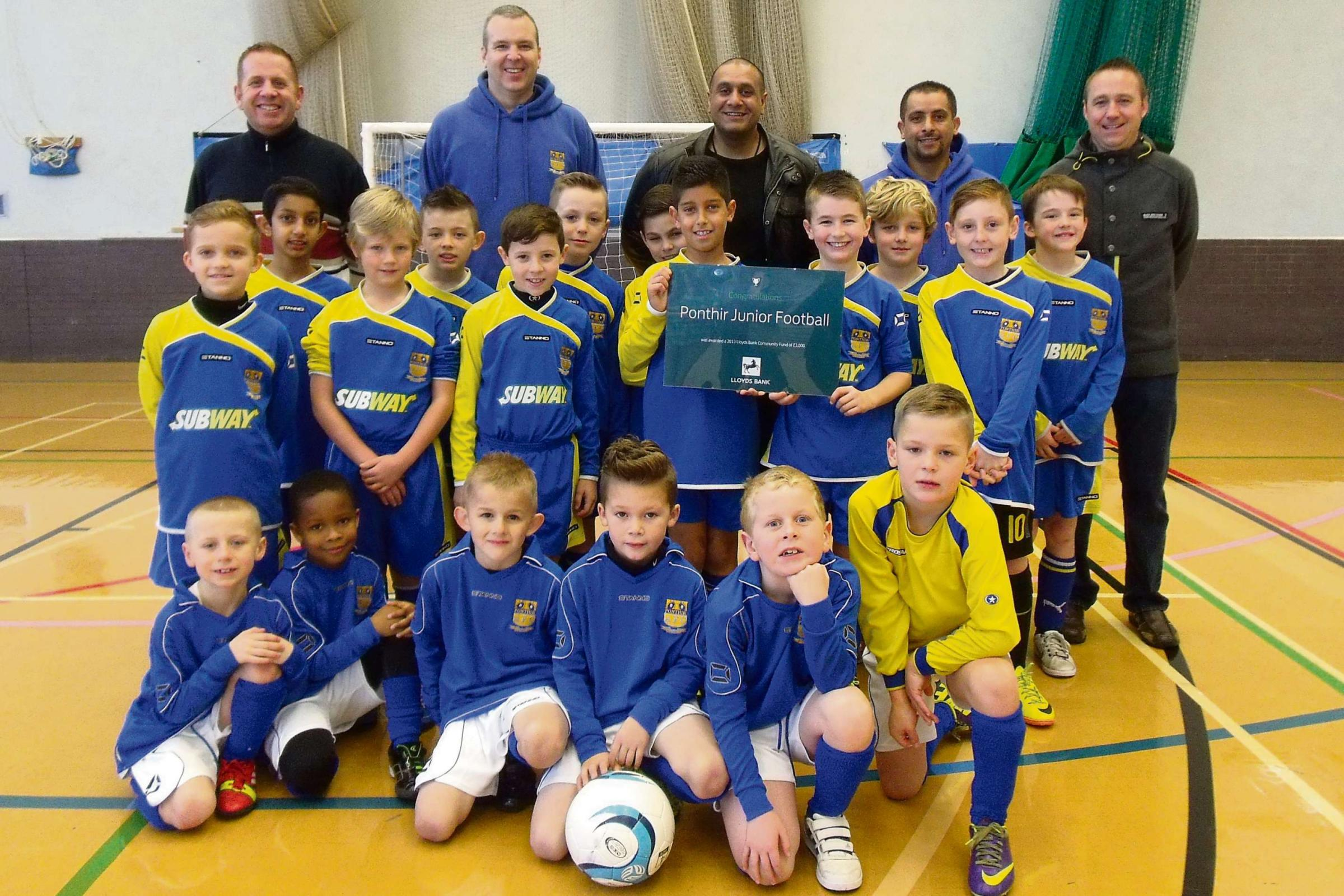 Ponthir football club wins £3k funding