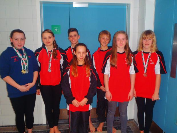 GREAT PERFORMANCES: Members of Heads of the Valleys Swimming Club