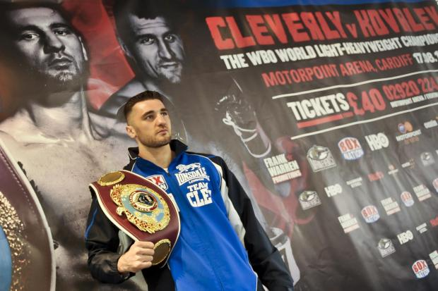 WBO World Light-Heavyweight Champion Nathan Cleverly during the press conference at the Motorpoint Arena in Cardiff. PRESS ASSOCIATION Photo. Picture date: Tuesday July 9, 2013. Photo credit should read: Ben Birchall/PA Wire. (612385)