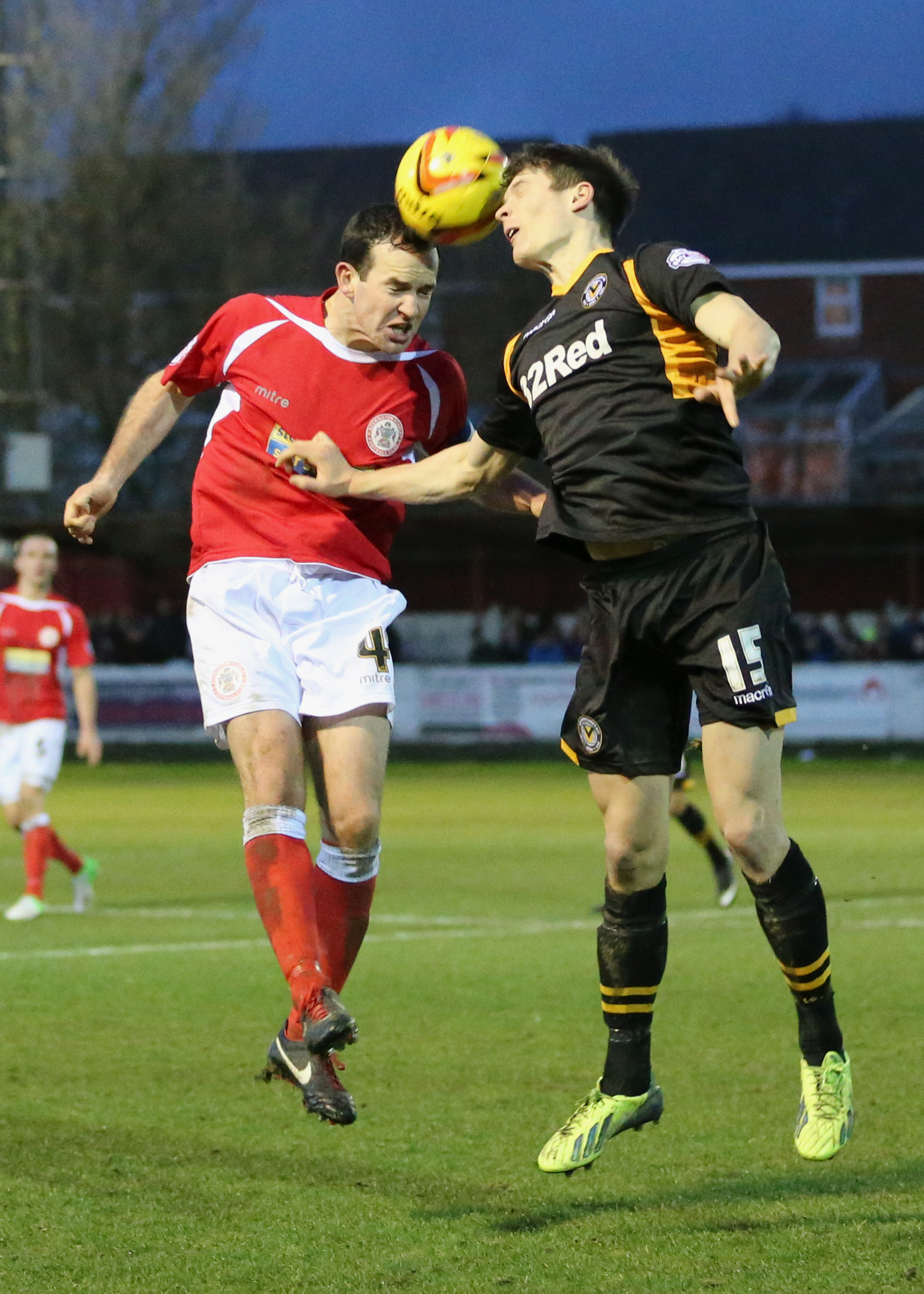 MAN OF THE MATCH: Ryan Burge in action against Accrington on Saturday