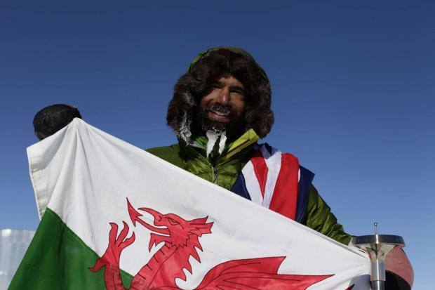 South Wales Argus: HERO: Richard Parks at the South Pole
