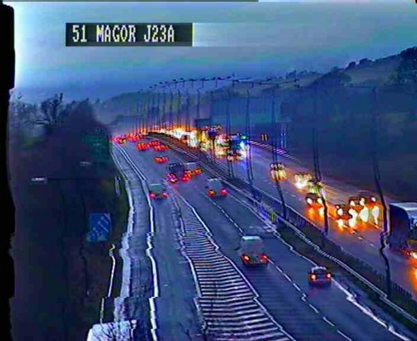 Delays on M4 in Newport after crash near J24