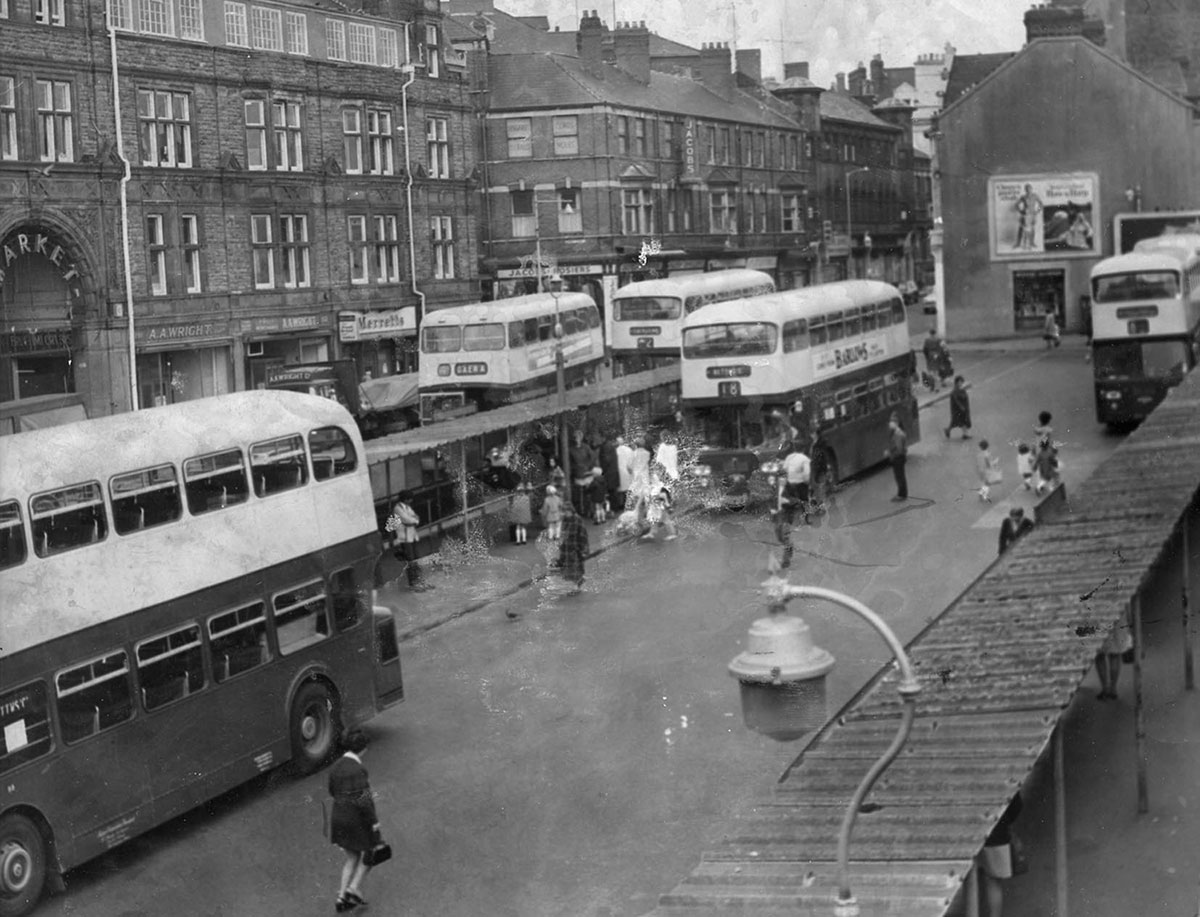 NOW AND THEN: Newport's Upper Dock Street bus station