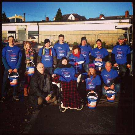 FAMILY APPEAL: Friends and family bucket collecting at Rodney Parade with Mr Price's mother, centre.  (3544730)